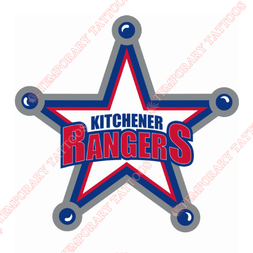 Kitchener Rangers Customize Temporary Tattoos Stickers NO.7332