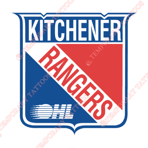 Kitchener Rangers Customize Temporary Tattoos Stickers NO.7333