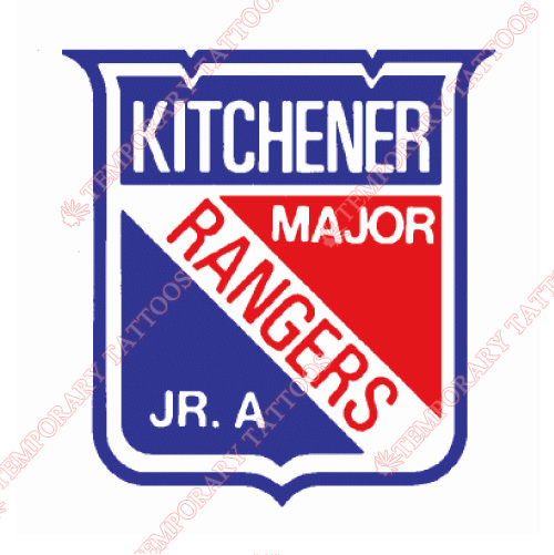 Kitchener Rangers Customize Temporary Tattoos Stickers NO.7334