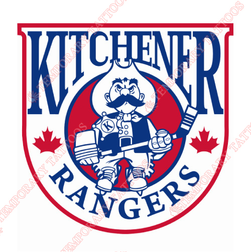 Kitchener Rangers Customize Temporary Tattoos Stickers NO.7335