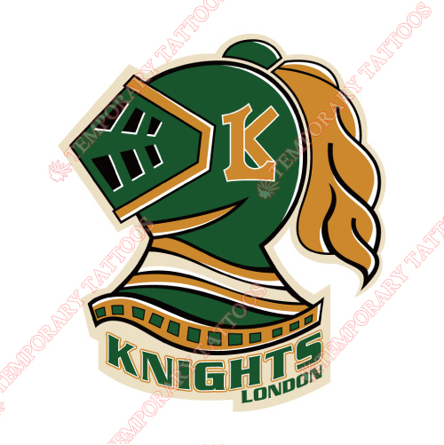 London Knights Customize Temporary Tattoos Stickers NO.7338