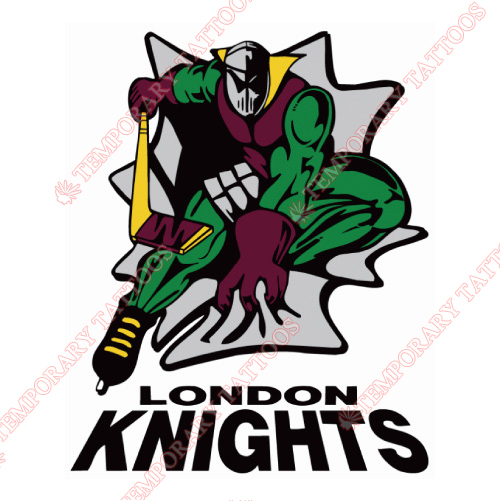 London Knights Customize Temporary Tattoos Stickers NO.7340