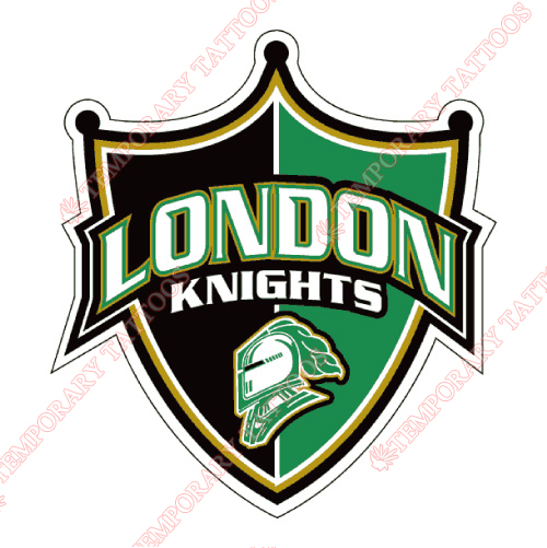 London Knights Customize Temporary Tattoos Stickers NO.7341