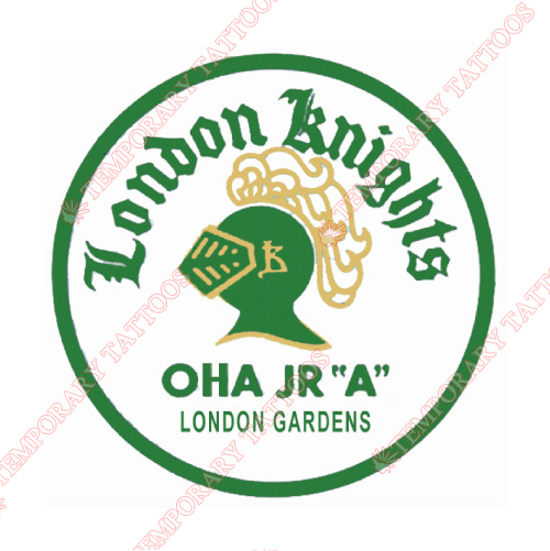 London Knights Customize Temporary Tattoos Stickers NO.7343