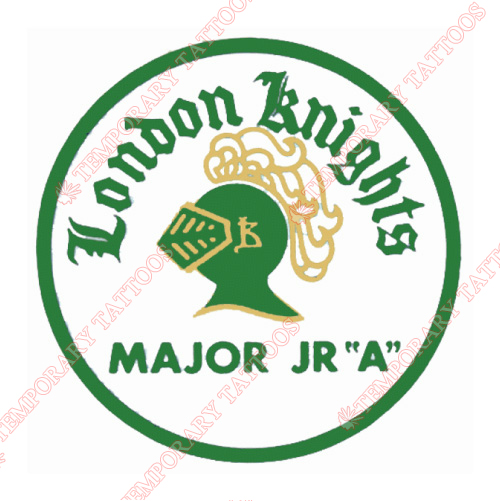 London Knights Customize Temporary Tattoos Stickers NO.7345