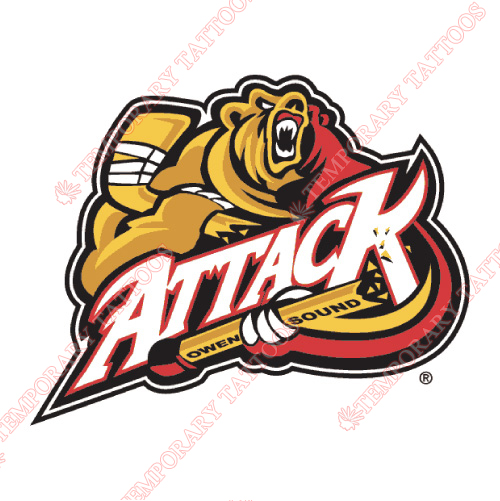 Owen Sound Attack Customize Temporary Tattoos Stickers NO.7372