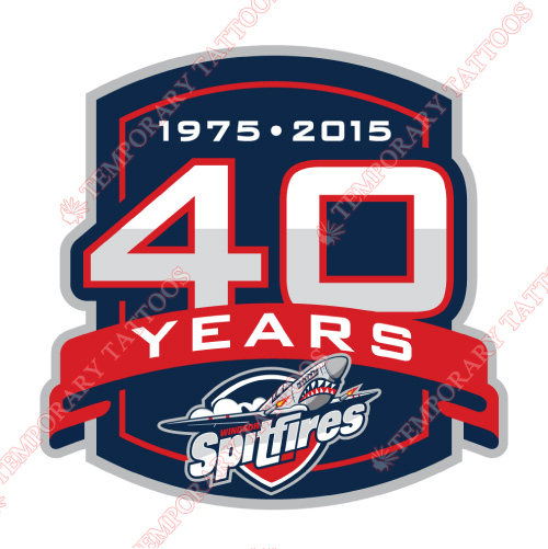 Windsor Spitfires Customize Temporary Tattoos Stickers NO.7402