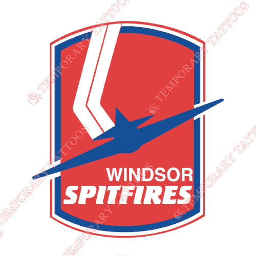 Windsor Spitfires Customize Temporary Tattoos Stickers NO.7403