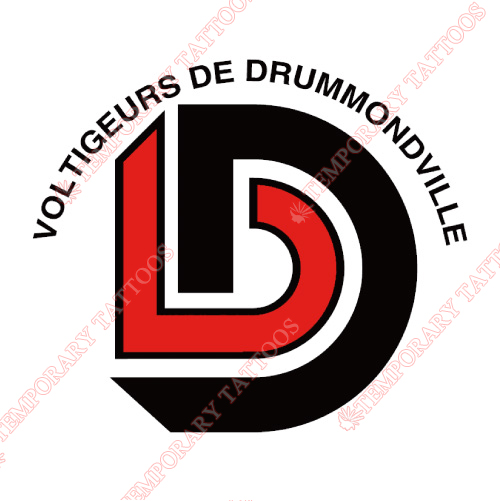 Drummondville Voltigeurs Customize Temporary Tattoos Stickers NO.7418