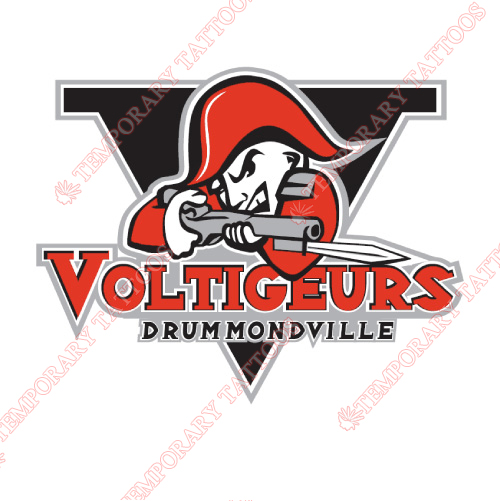 Drummondville Voltigeurs Customize Temporary Tattoos Stickers NO.7421