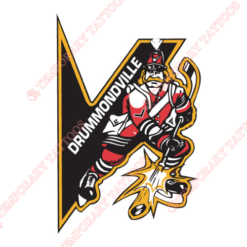 Drummondville Voltigeurs Customize Temporary Tattoos Stickers NO.7422