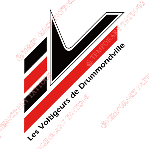 Drummondville Voltigeurs Customize Temporary Tattoos Stickers NO.7423