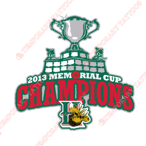 Halifax Mooseheads Customize Temporary Tattoos Stickers NO.7433