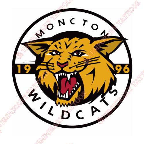 Moncton Wildcats Customize Temporary Tattoos Stickers NO.7440