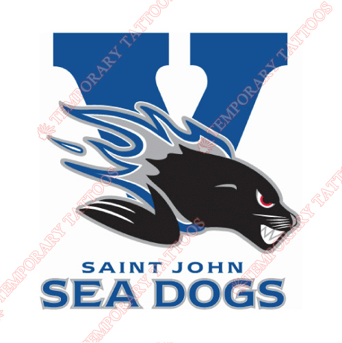 Saint John Sea Dogs Customize Temporary Tattoos Stickers NO.7463