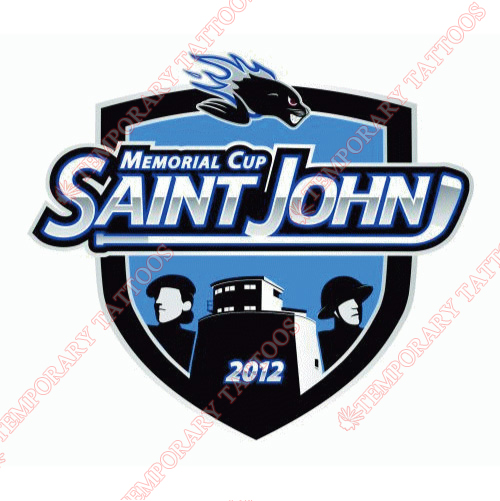 Saint John Sea Dogs Customize Temporary Tattoos Stickers NO.7464