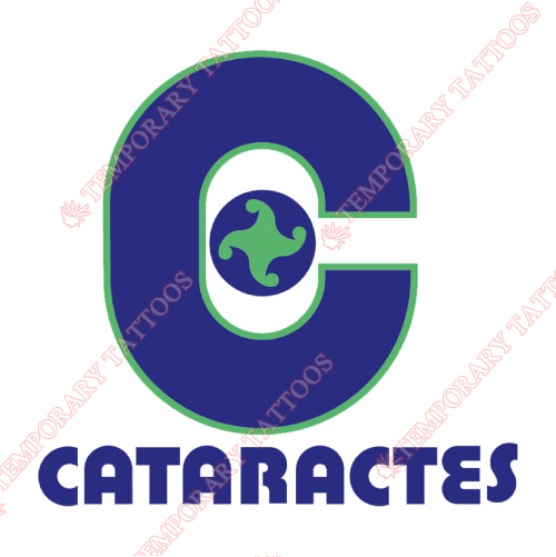 Shawinigan Cataractes Customize Temporary Tattoos Stickers NO.7468