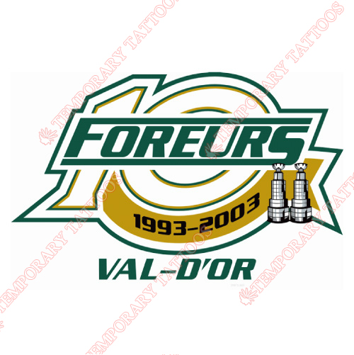 Val-d Or Foreurs Customize Temporary Tattoos Stickers NO.7482