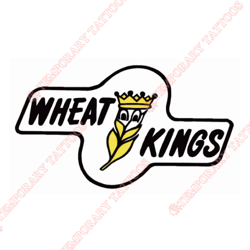 Brandon Wheat Kings Customize Temporary Tattoos Stickers NO.7491