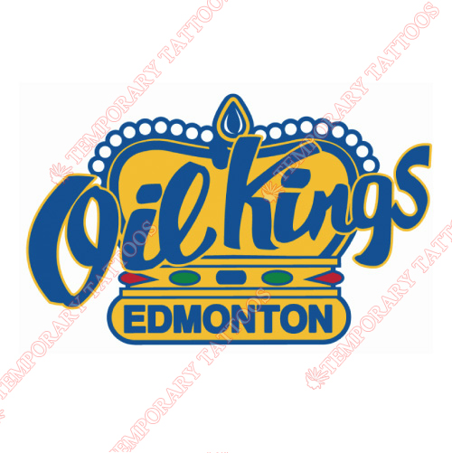 Edmonton Oil Kings Customize Temporary Tattoos Stickers NO.7497