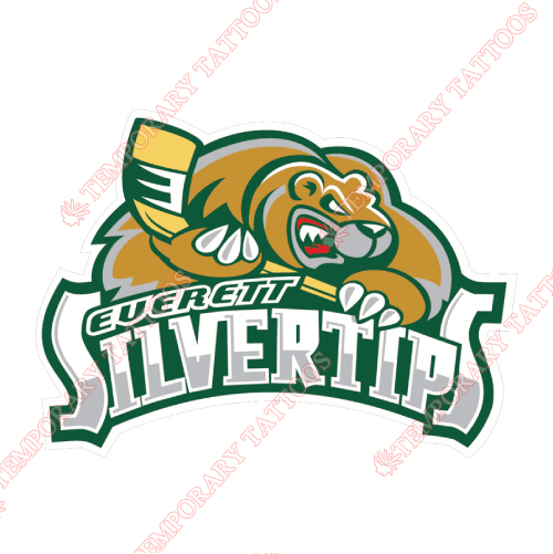 Everett Silvertips Customize Temporary Tattoos Stickers NO.7500