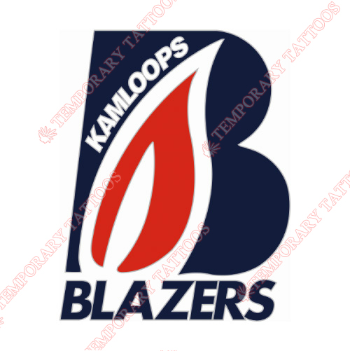 Kamloops Blazers Customize Temporary Tattoos Stickers NO.7504