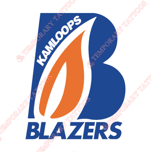 Kamloops Blazers Customize Temporary Tattoos Stickers NO.7505