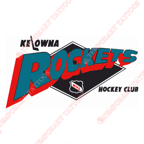 Kelowna Rockets Customize Temporary Tattoos Stickers NO.7507