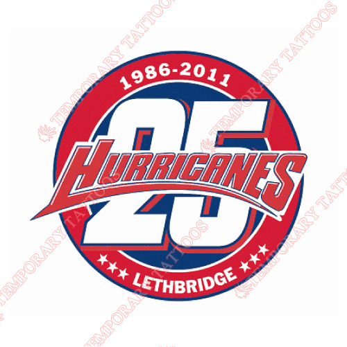 Lethbridge hurricanes customize temporary tattoos stickers no 7512
