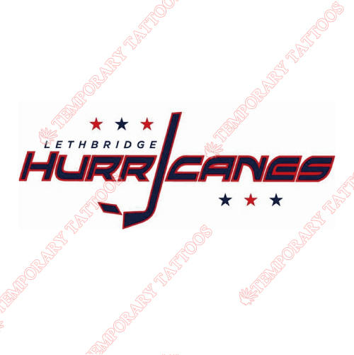 Lethbridge hurricanes customize temporary tattoos stickers no 7516