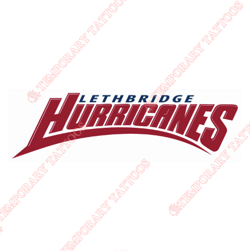 Lethbridge Hurricanes Customize Temporary Tattoos Stickers NO.7518