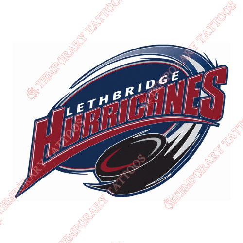 Lethbridge hurricanes customize temporary tattoos stickers no 7519