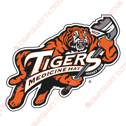 Medicine Hat Tigers Customize Temporary Tattoos Stickers NO.7521