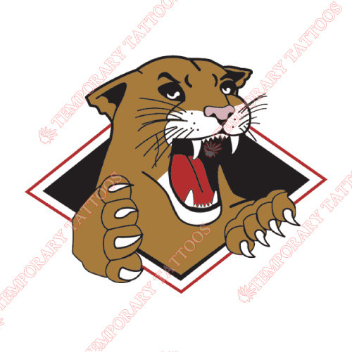 Prince George Cougars Customize Temporary Tattoos Stickers NO.7533