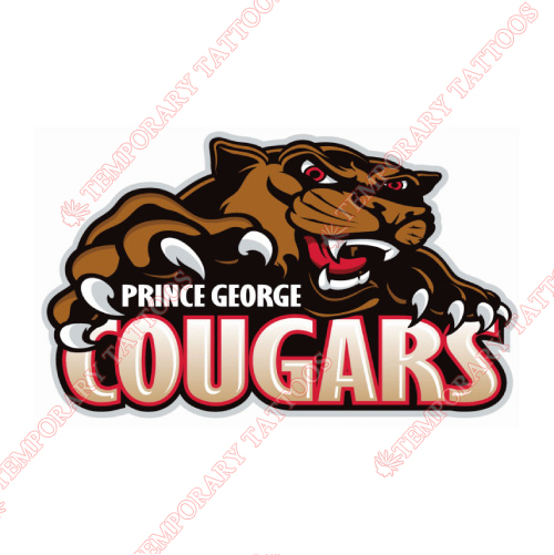 Prince George Cougars Customize Temporary Tattoos Stickers NO.7534