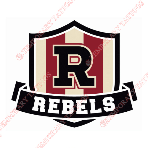 Red Deer Rebels Customize Temporary Tattoos Stickers NO.7536
