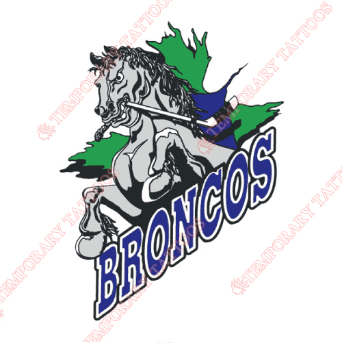 Swift Current Broncos Customize Temporary Tattoos Stickers NO.7557