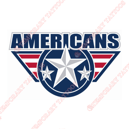 Tri-City Americans Customize Temporary Tattoos Stickers NO.7559