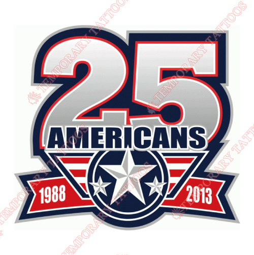 Tri-City Americans Customize Temporary Tattoos Stickers NO.7560