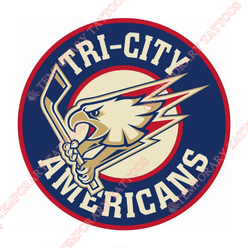 Tri-City Americans Customize Temporary Tattoos Stickers NO.7561
