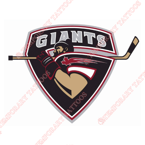 Vancouver Giants Customize Temporary Tattoos Stickers NO.7563