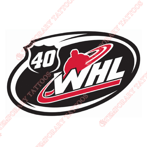 Western Hockey League Customize Temporary Tattoos Stickers NO.7567