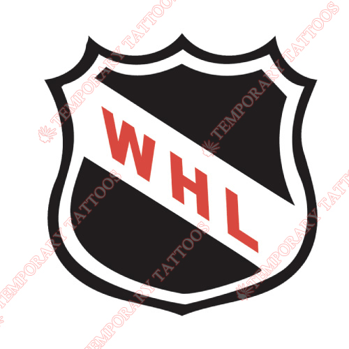 Western Hockey League Customize Temporary Tattoos Stickers NO.7568