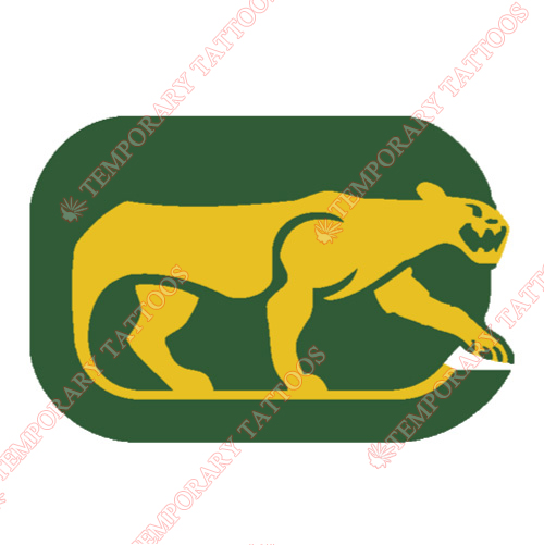 Chicago Cougars Customize Temporary Tattoos Stickers NO.7107