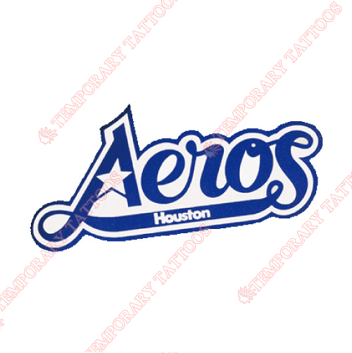 Houston Aeros Customize Temporary Tattoos Stickers NO.7112