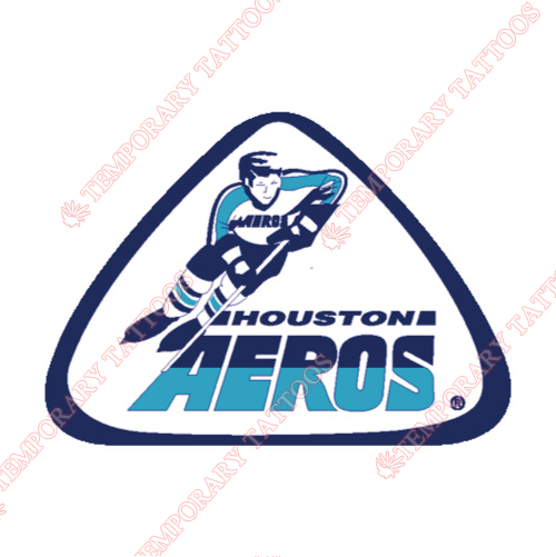 Houston Aeros Customize Temporary Tattoos Stickers NO.7113