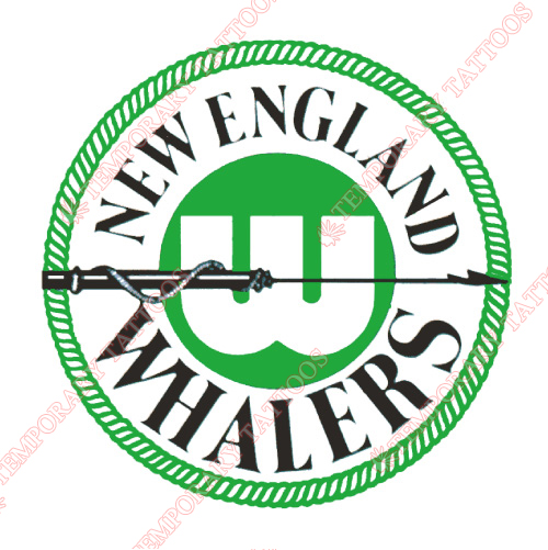New England Whalers Customize Temporary Tattoos Stickers NO.7122