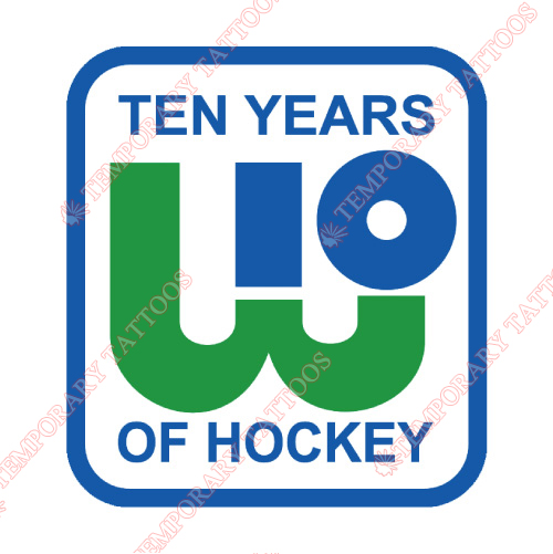 New England Whalers Customize Temporary Tattoos Stickers NO.7123