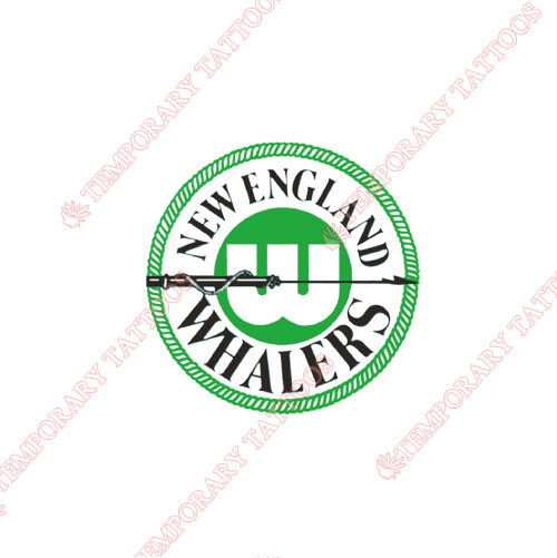 New England Whalers Customize Temporary Tattoos Stickers NO.7128