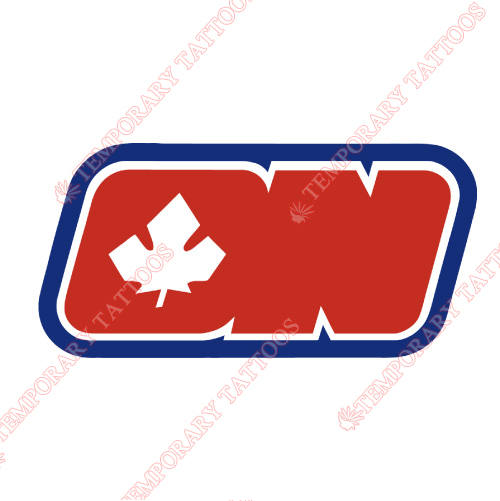Ottawa Nationals Customize Temporary Tattoos Stickers NO.7138